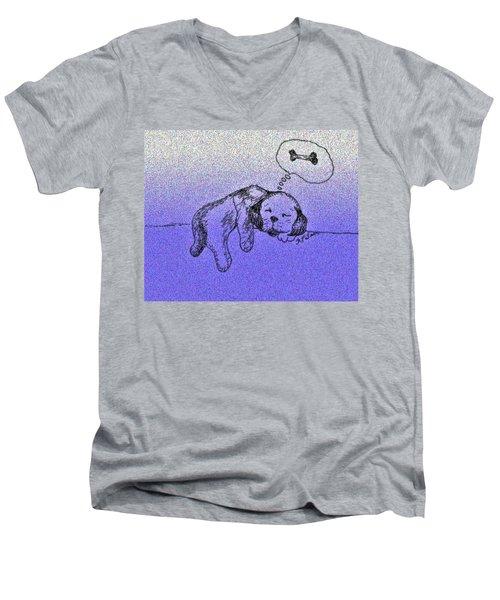 Sleepy Puppy Dreams Men's V-Neck T-Shirt