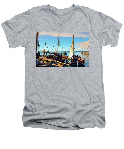 Sleepy Sail Boats Zanzibar Men's V-Neck T-Shirt