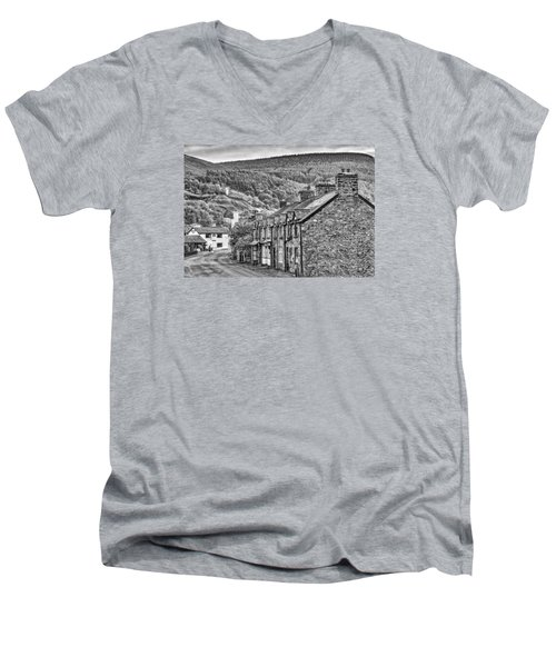 Sleepy Welsh Village Men's V-Neck T-Shirt