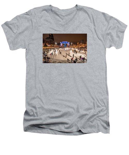 Slice Of Ice Men's V-Neck T-Shirt by Randy Scherkenbach