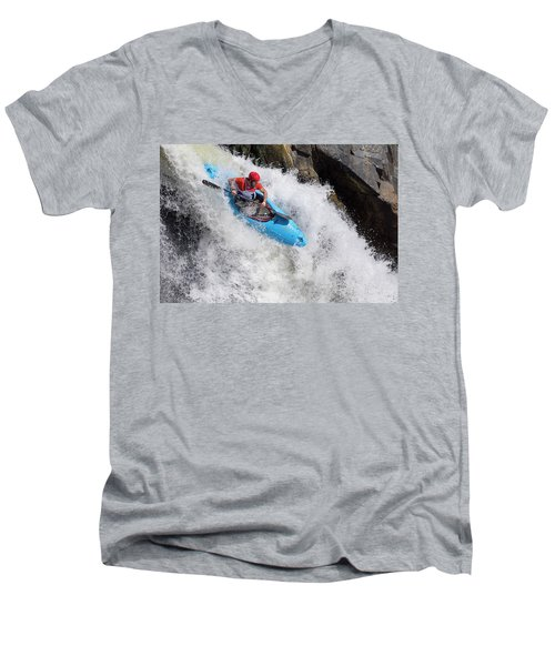 Slicing To The Finish Men's V-Neck T-Shirt