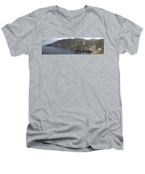 Slieve League Cliffs Men's V-Neck T-Shirt