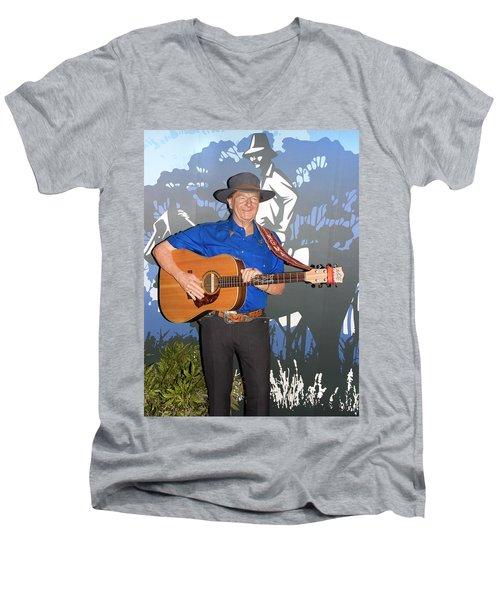Slim Dusty Men's V-Neck T-Shirt