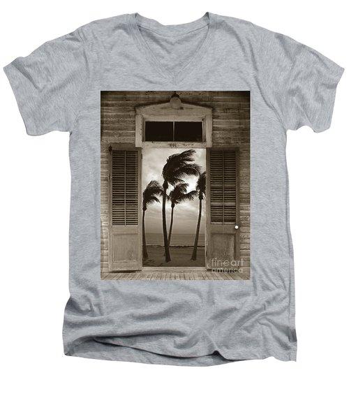 Slip Away To Paradise Men's V-Neck T-Shirt by John Stephens