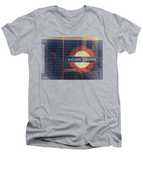 Sloane Square Portrait Men's V-Neck T-Shirt