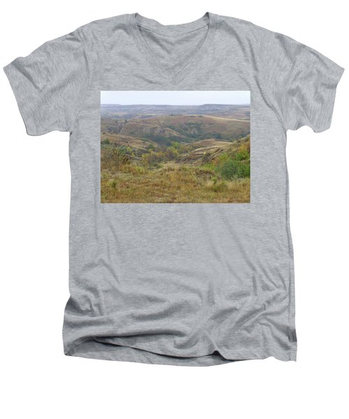 Slope County In The Rain Men's V-Neck T-Shirt