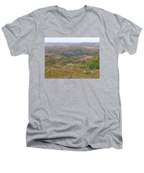 Slope County In The Rain Men's V-Neck T-Shirt