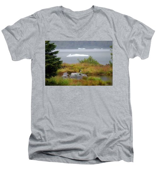 Slowly Floating By Men's V-Neck T-Shirt by Marilyn Wilson