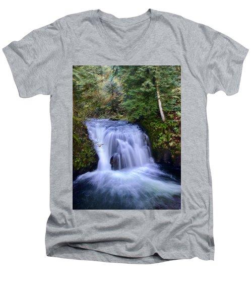 Small Cascade Men's V-Neck T-Shirt