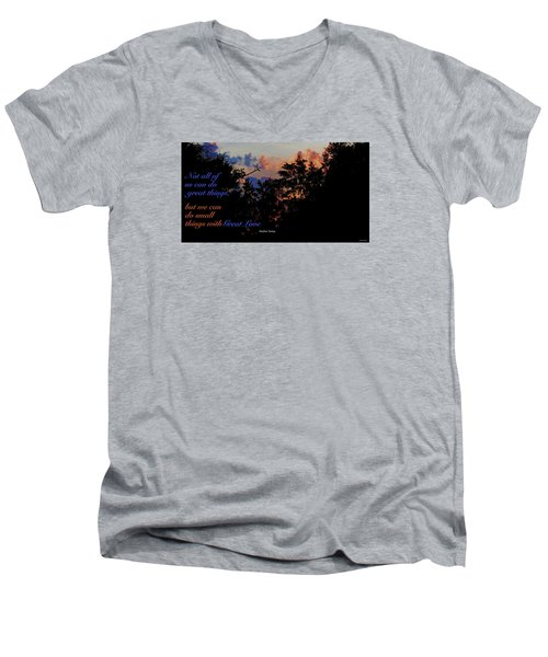 Men's V-Neck T-Shirt featuring the photograph Small Counts by David Norman