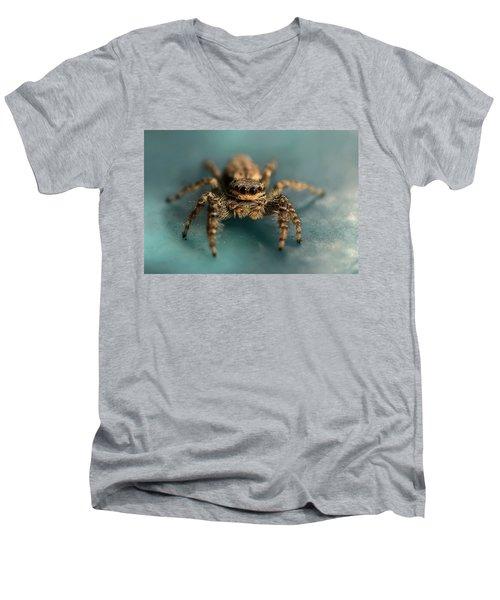 Small Jumping Spider Men's V-Neck T-Shirt