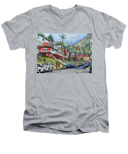 Small Town, America Men's V-Neck T-Shirt