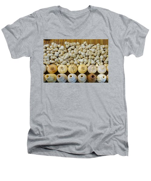Small Wooden Flasks Men's V-Neck T-Shirt