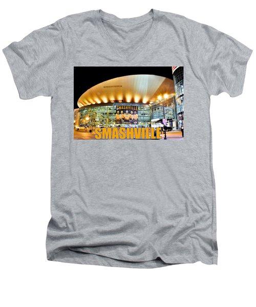 Smashville Men's V-Neck T-Shirt