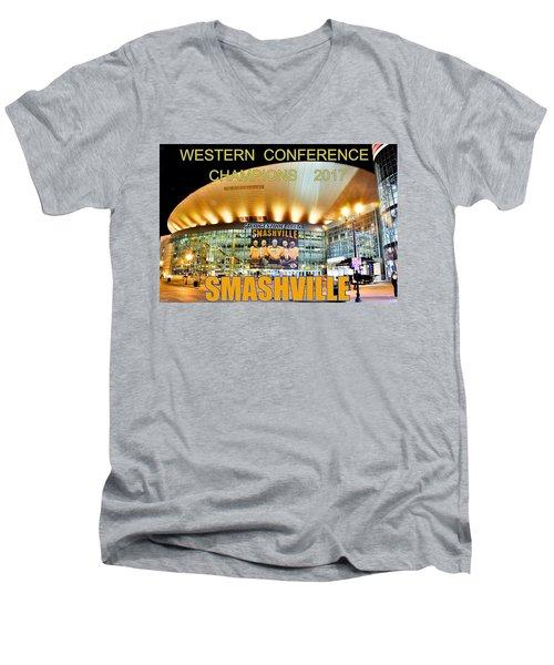 Smashville Western Conference Champions 2017 Men's V-Neck T-Shirt