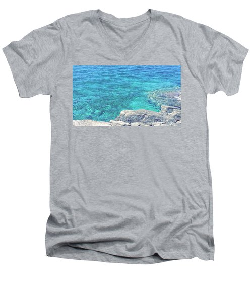 Smdl Men's V-Neck T-Shirt by Laura Pia Giovanna Morocutti