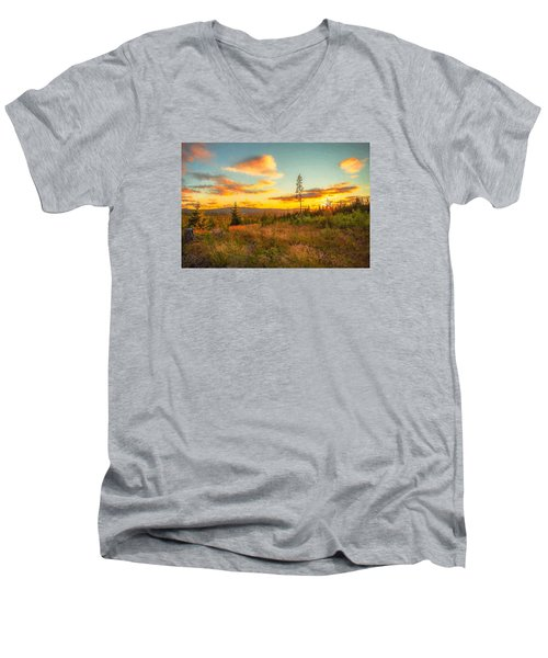 Men's V-Neck T-Shirt featuring the photograph Smell Of Nature by Rose-Maries Pictures
