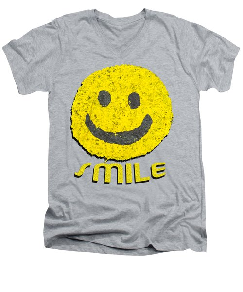 Smile Men's V-Neck T-Shirt by Thomas Young
