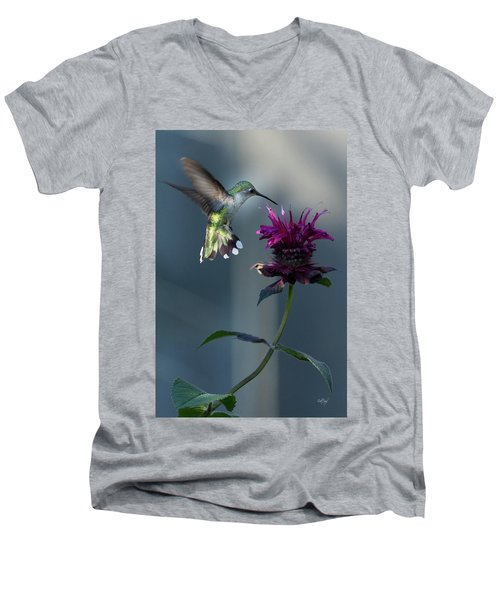 Men's V-Neck T-Shirt featuring the photograph Smiles In The Garden by Everet Regal