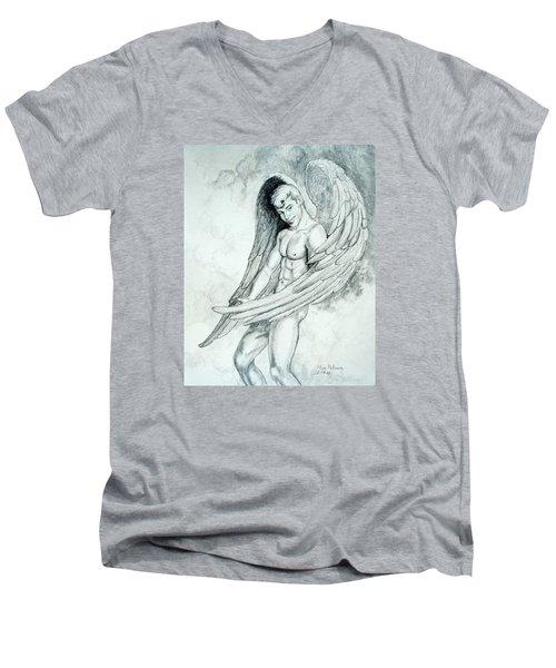 Smiling Angel Men's V-Neck T-Shirt