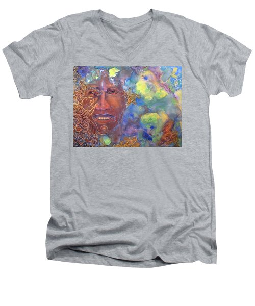 Smiling Muse No. 1 Men's V-Neck T-Shirt