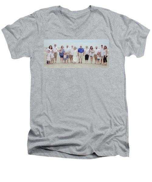 Smith Family At The Beach Men's V-Neck T-Shirt