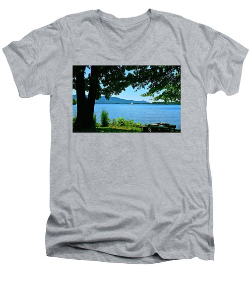 Smith Mountain Lake Sailor Men's V-Neck T-Shirt by The American Shutterbug Society