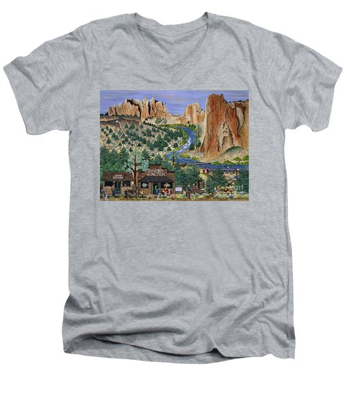 Smith Rock State Park Men's V-Neck T-Shirt