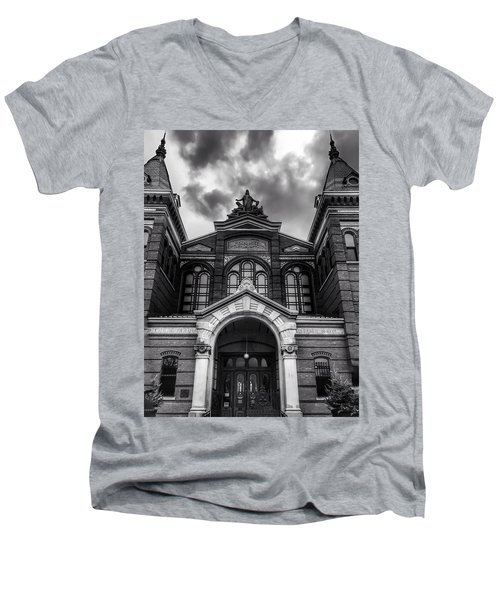 Smithsonian Arts And Industries Building Men's V-Neck T-Shirt
