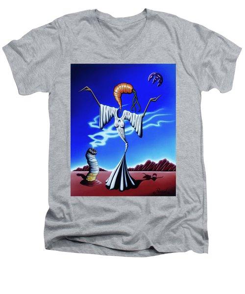 Smoke Dance Men's V-Neck T-Shirt