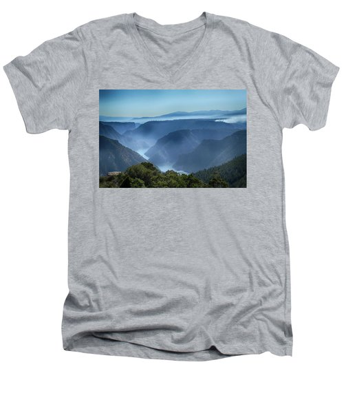 Smoke Over Flaming Gorge Men's V-Neck T-Shirt