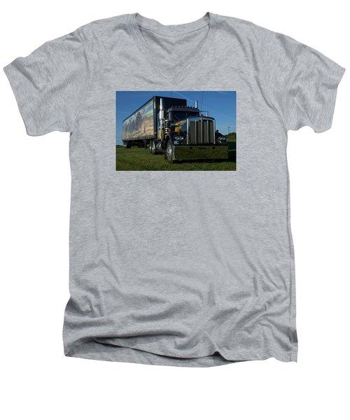 Smokey And The Bandit Tribute Semi Truck Men's V-Neck T-Shirt