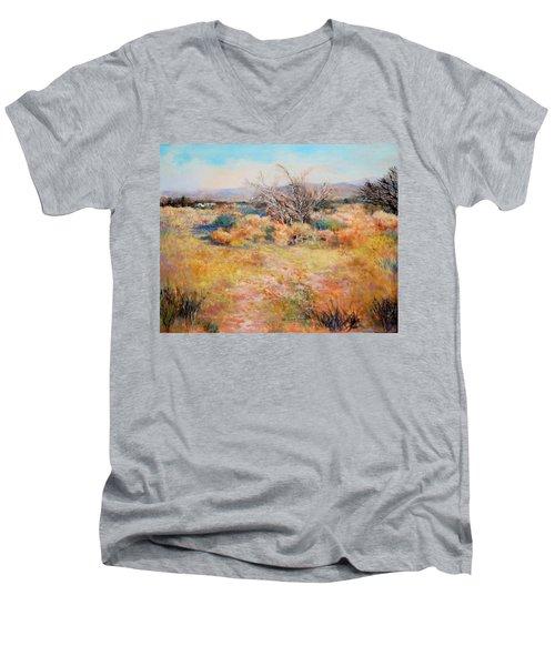 Smokey Day Men's V-Neck T-Shirt by M Diane Bonaparte