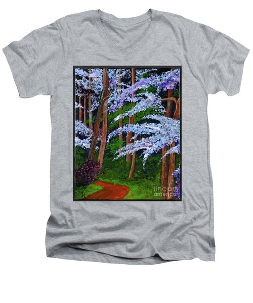 Smokey Mtn. Trail Men's V-Neck T-Shirt