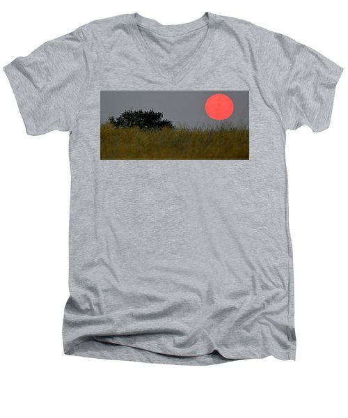 Smokey Sunset Men's V-Neck T-Shirt