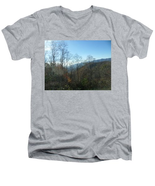 Smokies 15 Men's V-Neck T-Shirt by Val Oconnor