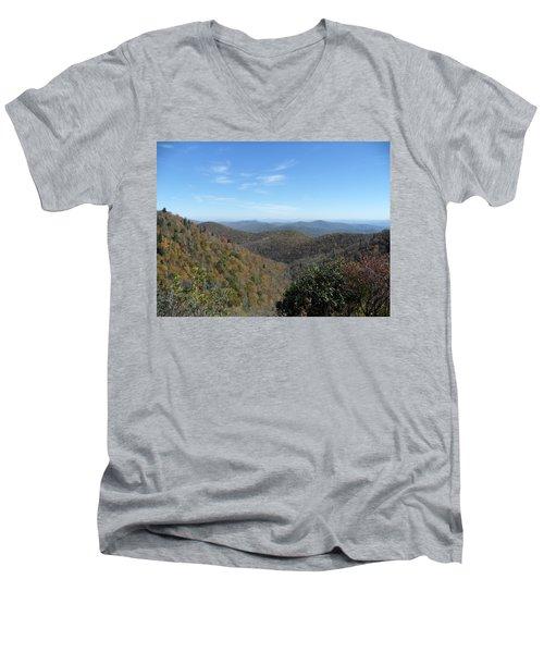 Smokies 6 Men's V-Neck T-Shirt by Val Oconnor