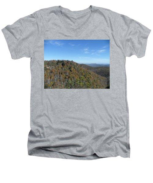 Smokies 7 Men's V-Neck T-Shirt by Val Oconnor