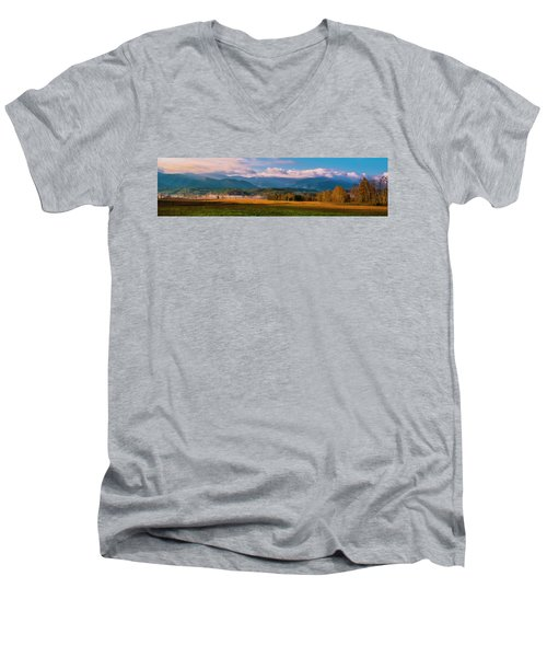 Smoky Mountains At Cades Cove I Men's V-Neck T-Shirt