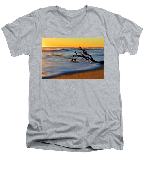 Smooth Move Men's V-Neck T-Shirt by Dianne Cowen