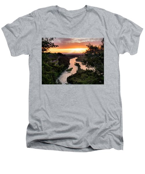 Snake River Sunset Men's V-Neck T-Shirt
