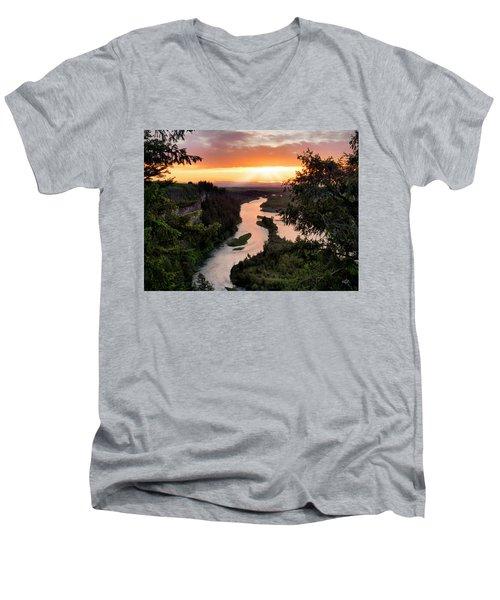 Snake River Sunset Men's V-Neck T-Shirt