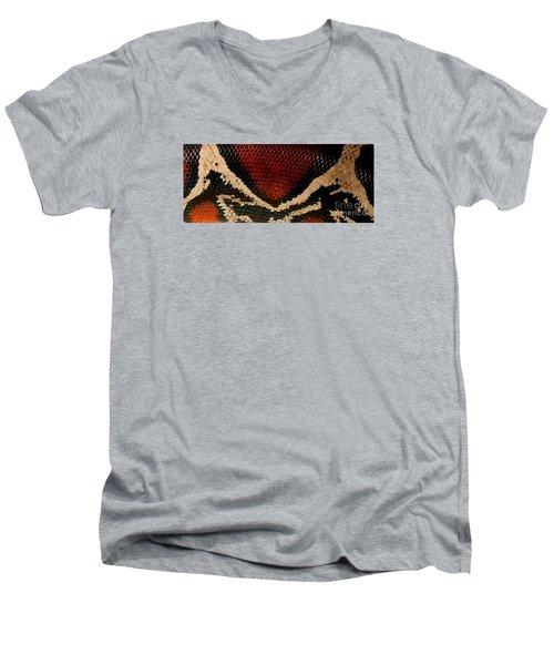 Snake's Scales Men's V-Neck T-Shirt by KD Johnson