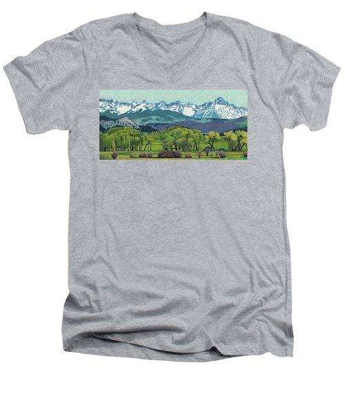 Sneffels Range Spring Men's V-Neck T-Shirt