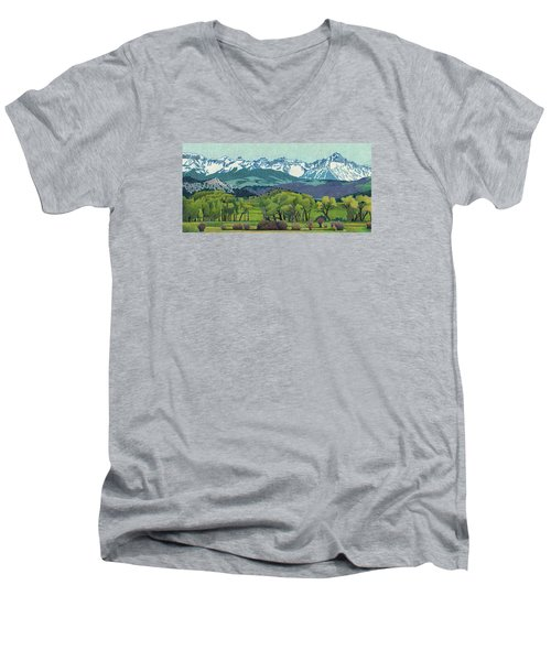Sneffels Range Spring Men's V-Neck T-Shirt