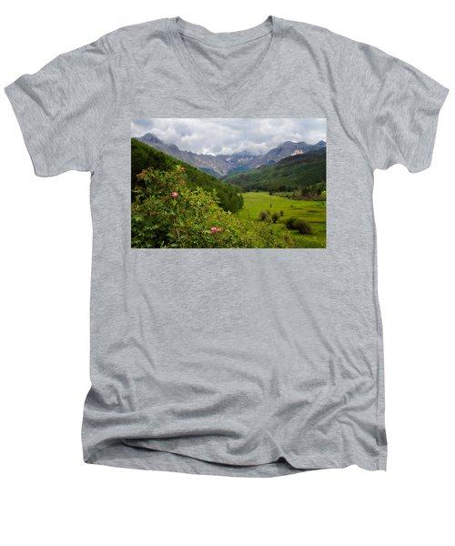 Sneffles Range Men's V-Neck T-Shirt