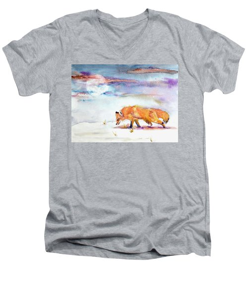Sniffing Out Some Magic Men's V-Neck T-Shirt by Beverley Harper Tinsley