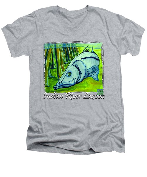 Snook Fish Men's V-Neck T-Shirt by W Gilroy