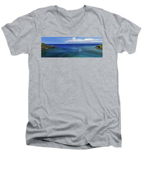 Men's V-Neck T-Shirt featuring the photograph Snorkeling In Maui by James Eddy