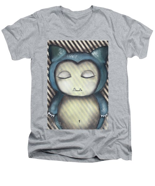 Snorlax Men's V-Neck T-Shirt by Abril Andrade Griffith